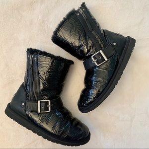 Ugg Patent black, sheepskin and leather